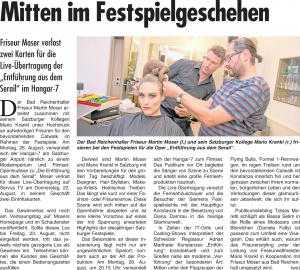 Friseur Moser Bericht KW 31